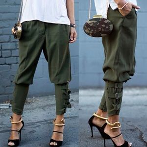 NEW Floryday Olive Green Skinny Cargo Pants